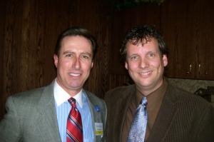 DJ Scott with author Peter Merry