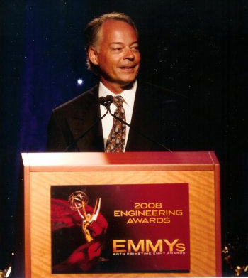 Craige accepts the Engineering EMMY for 2008.