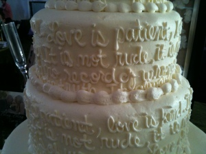 love cake closeup